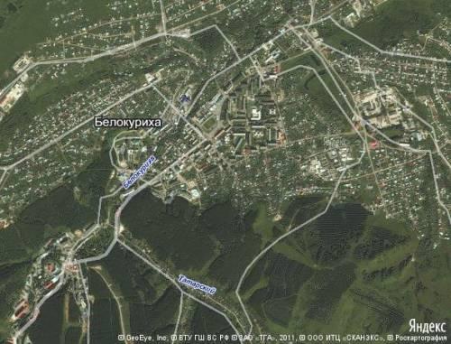 Карта Белокурихи